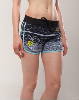 Short Deportivo Mujer / 2 Colores - Aquamarina