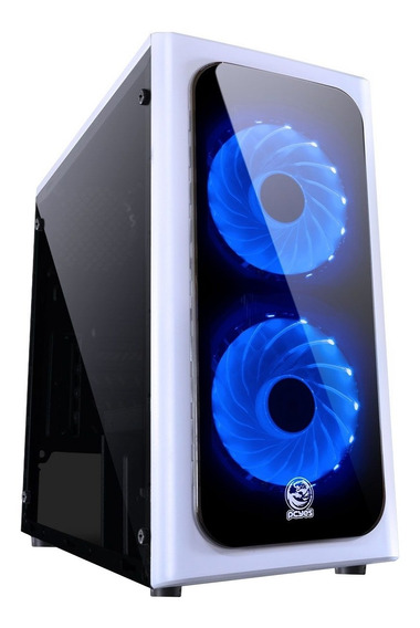 Gabinete Gamer Mid Tower Pcyes Venbcaz2fca Venus Led Azul