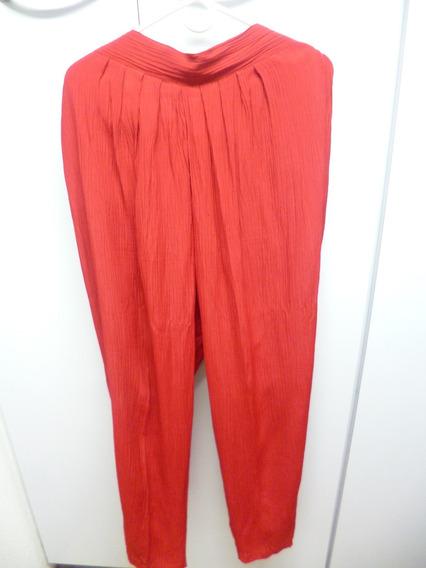 Pantalon Rojo De Vestir De Dama... Marnie West Talla L