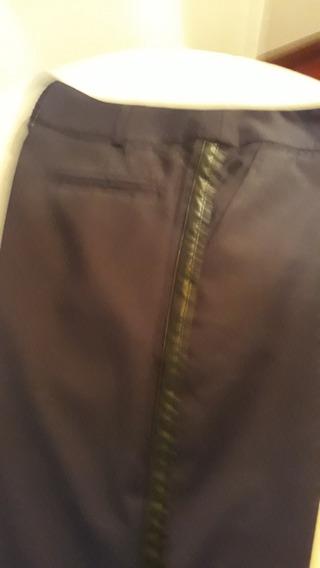 Pantalon Cardon Nuevo Negro Combinado Con Cuero