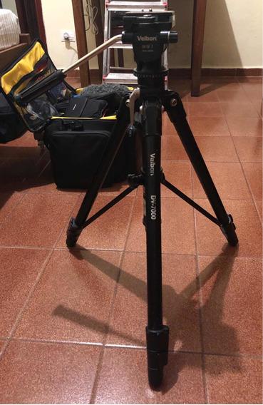 Tripé Fotográfico E Video Velbon Dv-7000 Com Cabeça Hidráuli