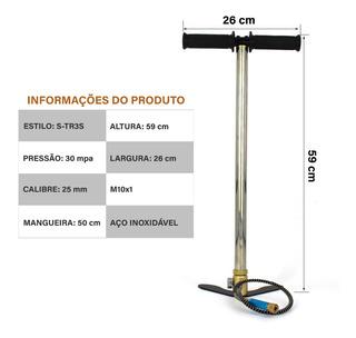 Bomba De Alta Pressão Carabina Pcp Paintbal 300 Bar 4500psi