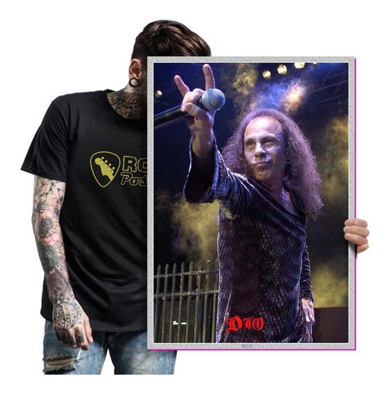 Quadro Placa Ronnie James Dio Heavy Metal Tamanho A2 13