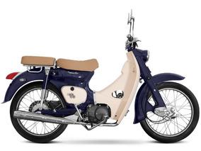 Zanella Motoneta Classic Vintage Scooter Cub Vespa Moto Azul