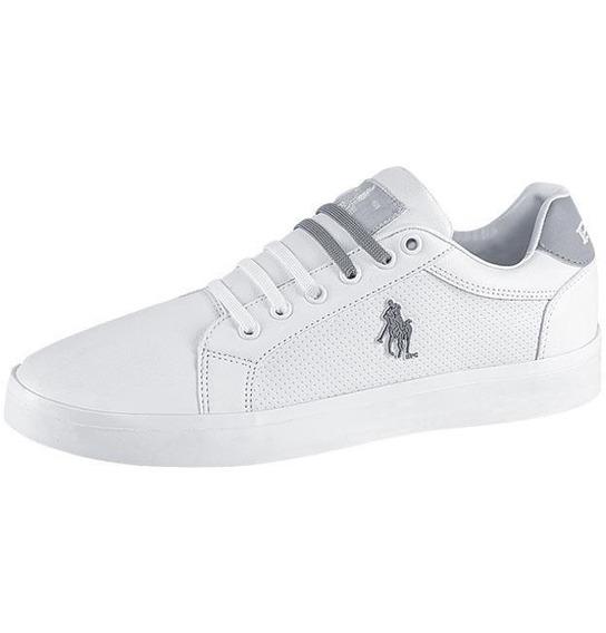 Tenis Hombre Marca Hpc Polo Mod 00 601 Blanco/gris
