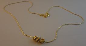 Gargantilha Folheada A Ouro 18k Pedrinhas De Cristal 119
