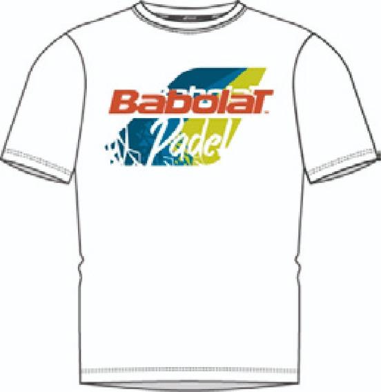 Remera Hombre Babolat Classic Padel Blanco