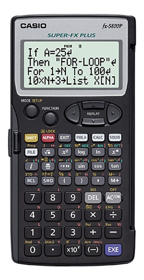 Calculadora Cientifica Casio Fx-5800p Funciones Programables