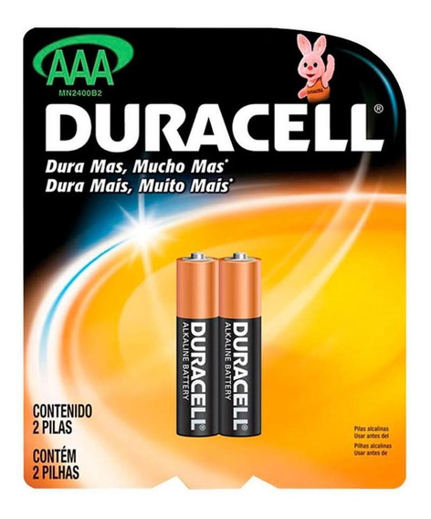 Pilha Duracell Aaa Pack C/ 2 Unidades