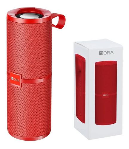 Bocina 1Hora BOC060 portátil con bluetooth roja