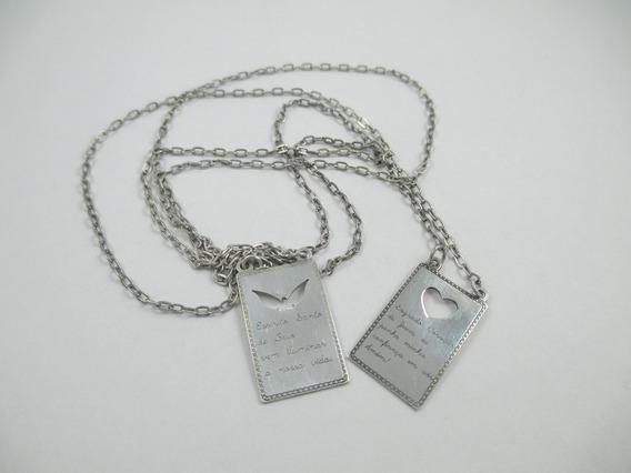 Colar De Prata Com Orações - Prata 925 - 3.85 Gr - 62 Cm
