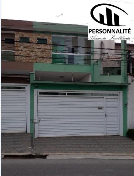 Sobrado 4 Dormitórios Com 2 Suites, Em Santo André, Valparaiso - Alm076v - 33889352