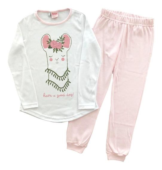 Pijama Manga Larga Llama Niñas Orig Boneco Mundo Manias