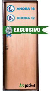 Puerta Placa De Cedro 80x200 Marco Reforzado Ahora 12/18