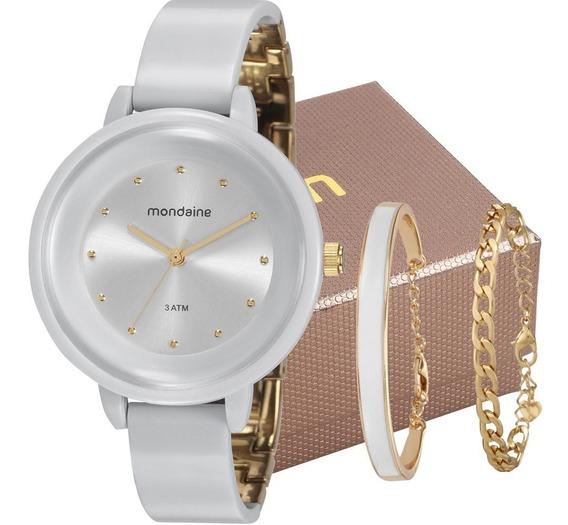 Relógio Mondaine Feminino Branco / Dourado 76709lpmvdy3k1