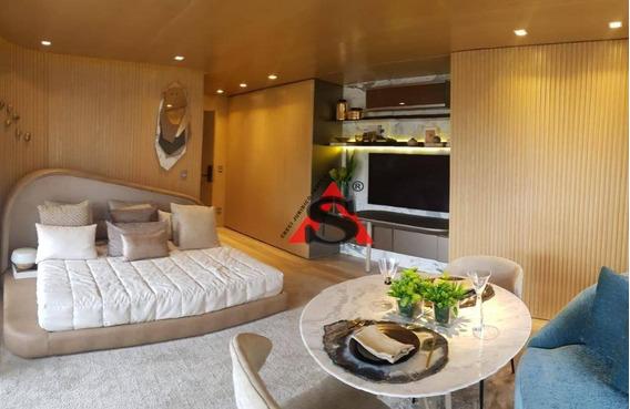Apartamento À Venda, Vila Olímpia. Apartamento Decorado No Cyrela By Pininfarina, Com 48,5 Metros, 1 Dormitório E 1 Vaga De Garagem. - Ap40638