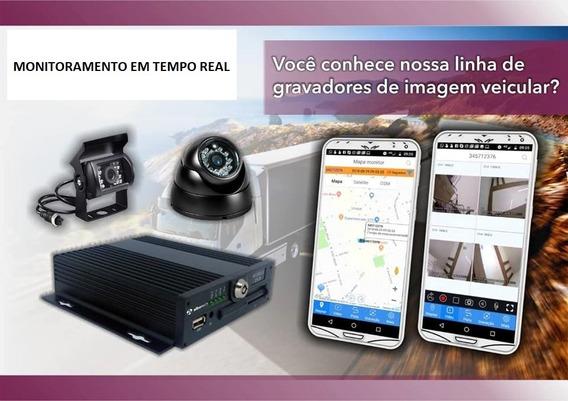 Kit Dvr Veicular 4 Canais, 3g/4g + Gps + 4 Câmeras Completo