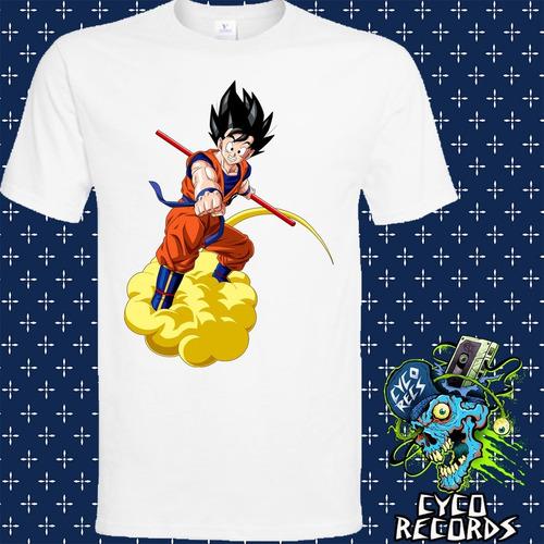 Imagen 1 de 3 de Dragon Ball - Goku Nube - Animacion - Polera- Cyco Records