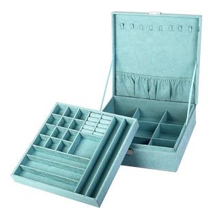 Alhajero Caja Para Joyas Con Divisiones Organizador Aqua