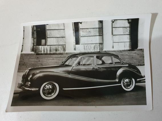 -antigua Postal Original Foto Bmw 502 -v8-1956