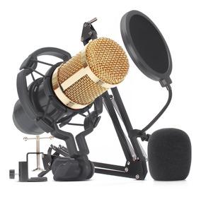 Microfone De Estudio Profissional Condensador Knup Youtuber