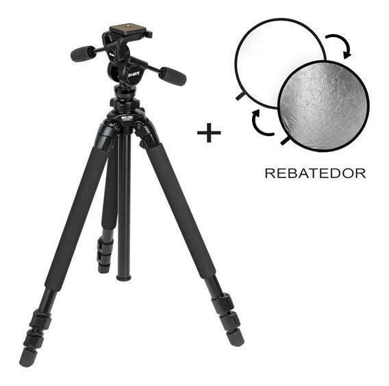 Tripé Câmera Slik Pro 780dx + Rebatedor Impact Grande