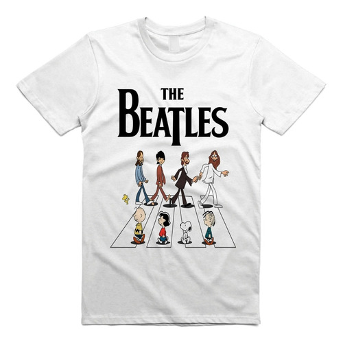 Imagen 1 de 4 de Playera The Beatles Abbey Road Snoopy