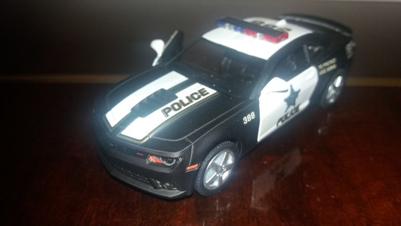 Miniatura Carro Marca Kinsmart Camaro Polícia Escala 1:38