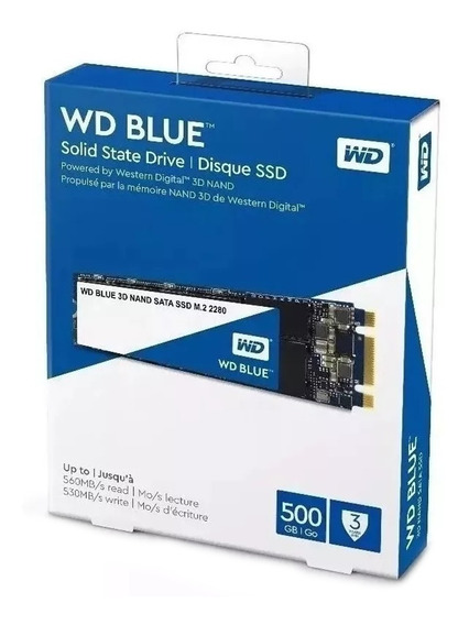 Ssd Wd Blue M.2 2280 500gb Notebook Solid State Drive Western Digital Nand 3d