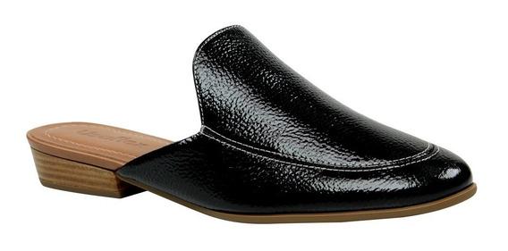 Sapato Mule Usaflex S5926 Em Couro Verniz