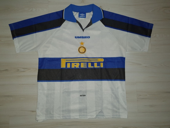 Camisa 2 Do Inter De Milão 1996 Umbro Pirelli