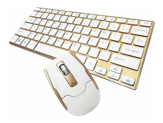 Teclado Mouse S/fio Ultrafino 2.4ghz Wireles Usb Wifi Hk3910