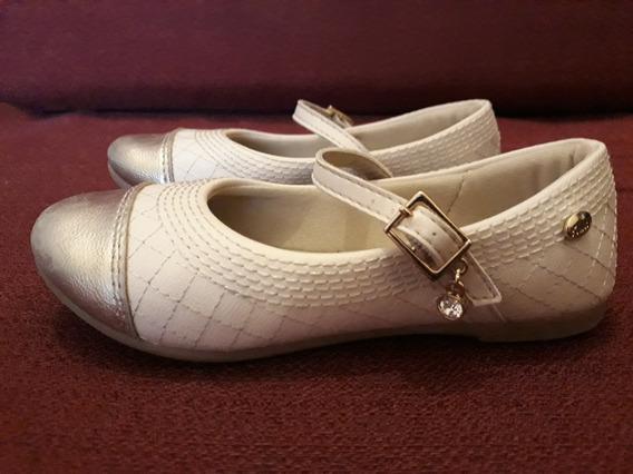 Zapatos De Fiesta Marfil Y Dorado-número 26