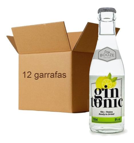 Imagem 1 de 4 de 12x Drink Pronto Easy Booze Gin+tonica 200ml