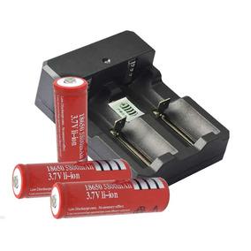Carregador Duplo P/ Bateria+ 2 Bateria Ultra Fire 18650