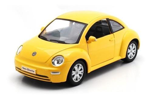 Imagen 1 de 9 de Amarillo Volkswagen New Beetle Escala 1:24 Colección