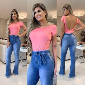 868a71da5 Calça Flare Colorida - Calças Outras Marcas Feminino no Mercado ...