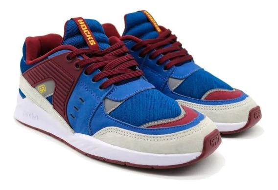 Tênis Hocks Pulsus Sneaker Grená Azul Bordo Original