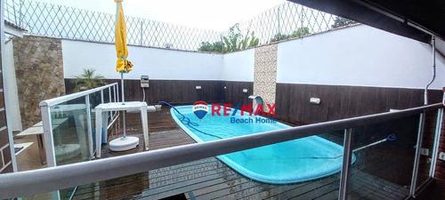 Casa Com 3 Dormitórios À Venda, 100 M² Por R$ 580.000,00 - Jardim Enseada - Guarujá/sp - Ca0292