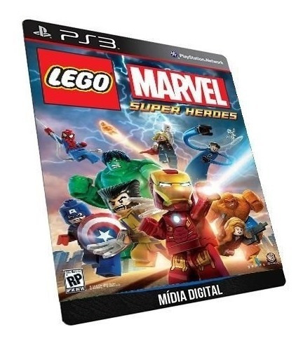 Lego Marvel Super Heroes Midia Digital Psn Jogo Ps3