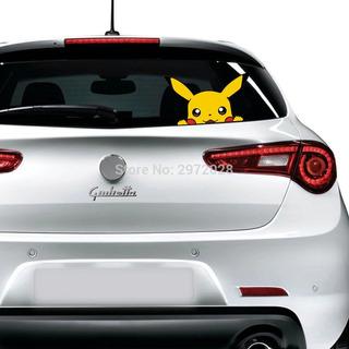 Sticker Vinil Calcomania Pikachu Pokemon Para Auto Coche