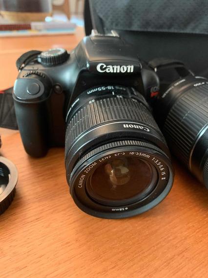 Câmera Fotográfica Canon T3 + Lente Para Distância Adivional