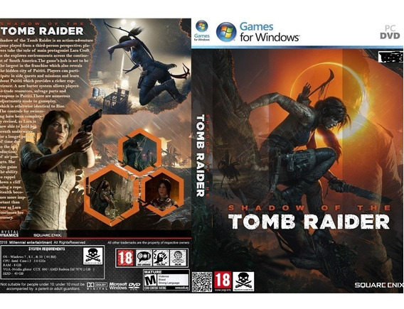 Shadow Of The Tomb Raider Pc (mídia Física)