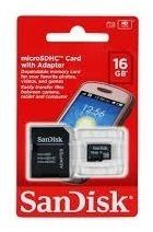 Memoria Sandisk De16 Gb Nuevas Y Selladas Con Adaptador Sd