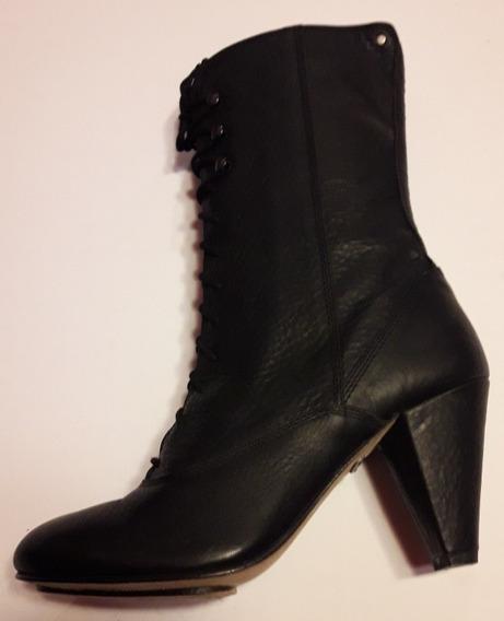 Botas Mujer Diésel Cuero Importadas Heat Tomen Black Gotico