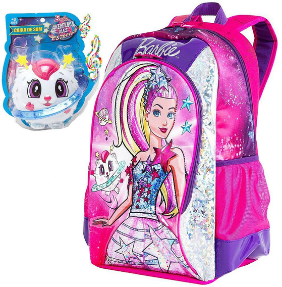 Mochila Barbie Original Sestine Infantil Menina Escolar 2019