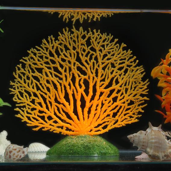 Coral Artificial Plástico Plantas Ornamento Underwater Peix