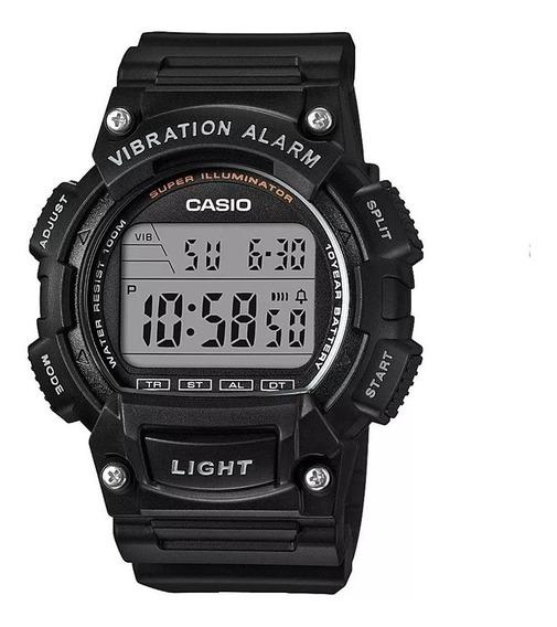 Relógio Casio W-736h Cor-preto Resistente A Água