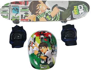 Skate Infantil + Acessórios Segurança!! Varios Personagens!