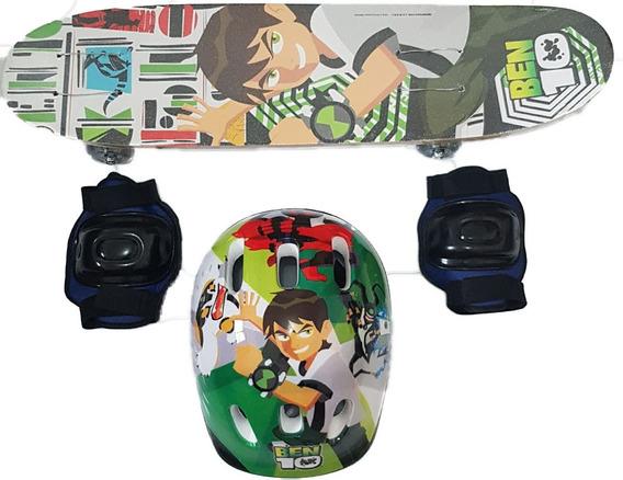 Skate Infantil + Acessórios Segurança!! Com Personargens